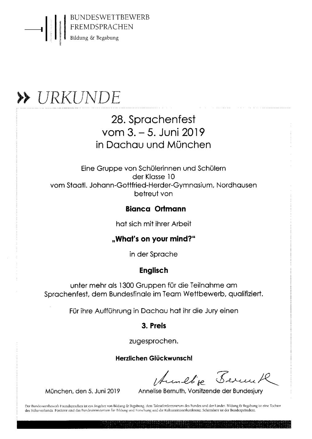 Bundeswettbewerb Sprachen